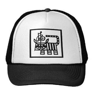 Chinese Zodiac Paper Cut Tiger Trucker Hats