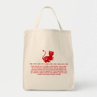 CHINESE ZODIAC PAPERCUT TIGER ILLUSTRATED BAG
