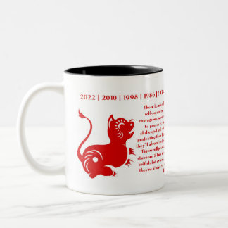 CHINESE ZODIAC PAPERCUT YEAR OF THE TIGER MUG