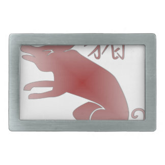 chinese zodiac pig belt buckle