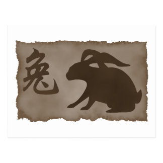 Chinese Zodiac Rabbit Gift Postcard