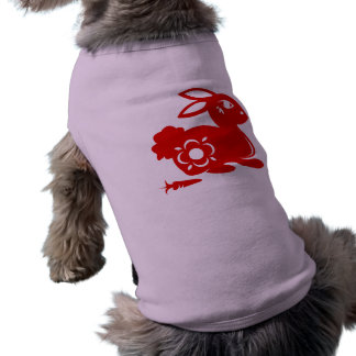 CHINESE ZODIAC RABBIT PAPERCUT ILLUSTRATION T-Shirt