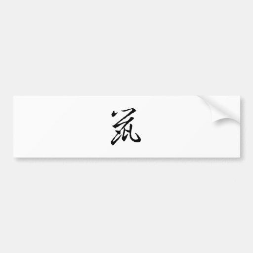 Chinese Zodiac - Rat Car Bumper Sticker
