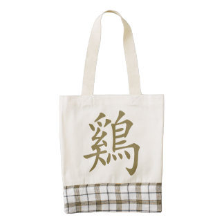 Chinese Zodiac Rooster Symbol Zazzle HEART Tote Bag