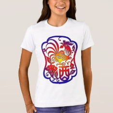 Chinese Zodiac Rooster T-shirt at Zazzle