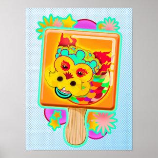 Chinese Zodiac Sign Dragon as Ice Cream Pop -