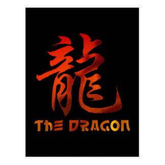 Chinese Zodiac Sign Dragon Gift Postcard