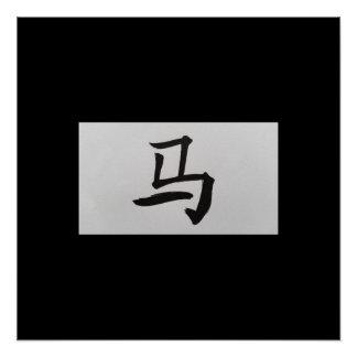Chinese zodiac sign Horse black