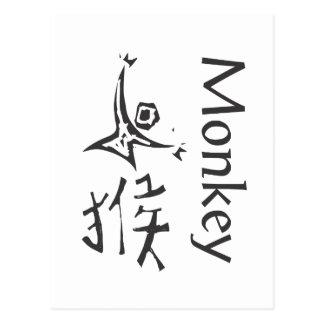 Chinese Zodiac Sign- Monkey Postcard