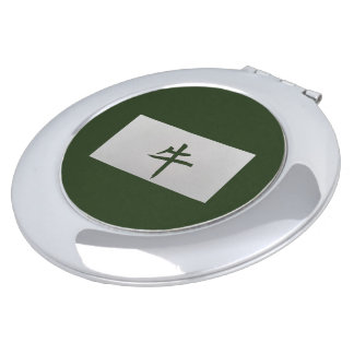 Chinese zodiac sign Ox green Vanity Mirror