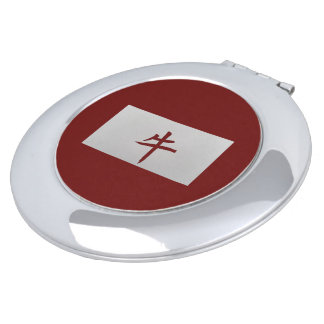 Chinese zodiac sign Ox red Compact Mirror