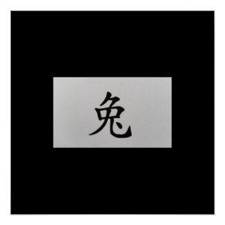 Chinese zodiac sign Rabbit black