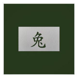 Chinese zodiac sign Rabbit green