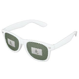 Chinese zodiac sign Rabbit green Retro Sunglasses