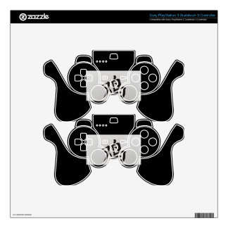 Chinese zodiac sign Rooster black Skin For PS3 Controller
