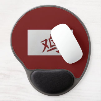 Chinese zodiac sign Rooster red Gel Mouse Pad