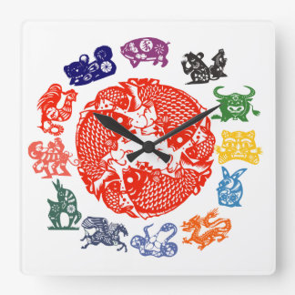 Chinese zodiac signs clock