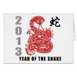 Chinese Zodiac Snake 2013 Greeting Card