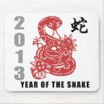 Chinese Zodiac Snake 2013 Mousepad