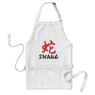 Chinese Zodiac Snake Adult Apron