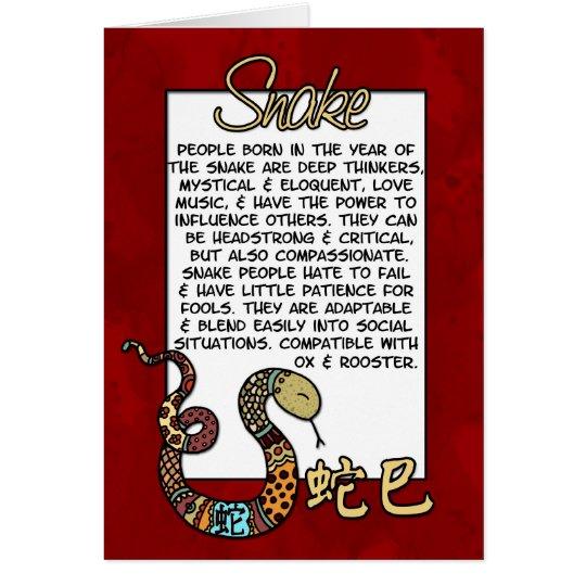 Chinese Zodiac - Snake Card