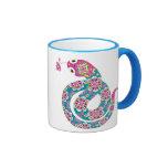 Chinese Zodiac Snake Colorful Series Ringer Mug