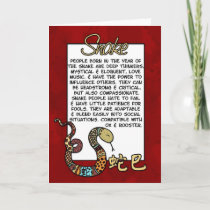 Chinese Zodiac - Snake Holiday Card