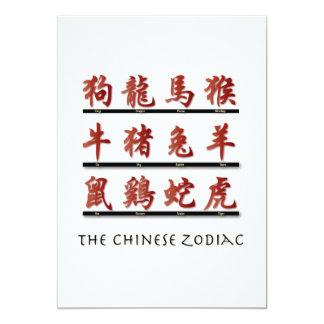Chinese Zodiac Symbols Invites