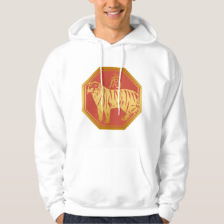 Chinese Zodiac Tiger Hooded Pullovers