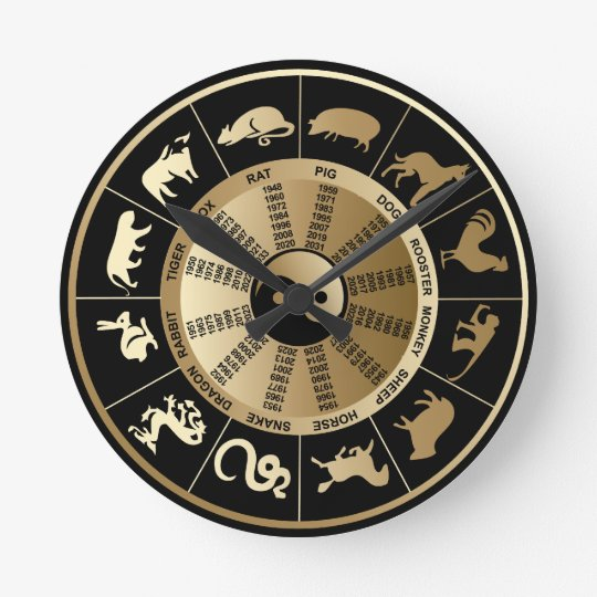 cea3b1e5d Chinese Zodiac Wall Clock | Zazzle.com