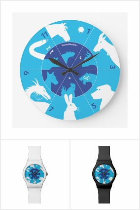 Chinese zodiac watches and clocks