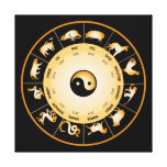 Chinese Zodiac Wheel Gallery Wrapped Canvas