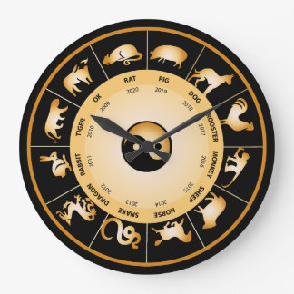 Chinese Zodiac Wheel Large Clock