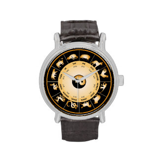 Chinese Zodiac Wheel Wristwatches