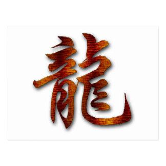 Chinese Zodiac Wood Dragon Gift Postcard