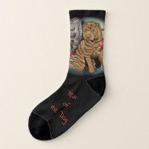 Chinese Zodiac Year of the Dog Socks