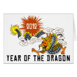 Chinese Zodiac Year of The Dragon 2012 Greeting Card