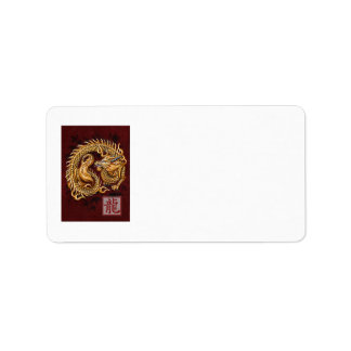 Chinese Zodiac Year of the Dragon Address Label
