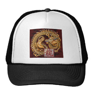 Chinese Zodiac Year of the Dragon Cap Trucker Hat