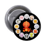 Chinese Zodiac Year of the Dragon Pinback Buttons