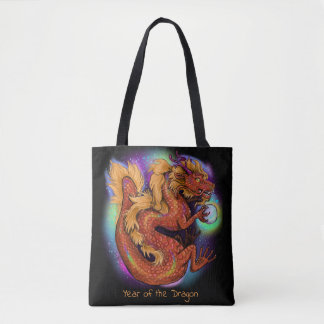 Chinese Zodiac Year of the Dragon Tote Bag