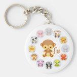 Chinese Zodiac Year of the Monkey Round Basic Round Button Keychain