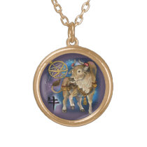 Chinese Zodiac Year of the Ox Gold Plated Necklace