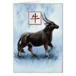 Chinese Zodiac Year of the Ox Greeting Card