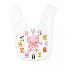 Chinese Zodiac Year of the Pig Baby Bib