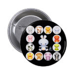 Chinese Zodiac Year of the Rabbit Button