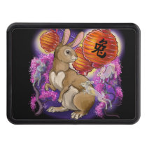 chinese zodiac year of the rabbit hitch cover