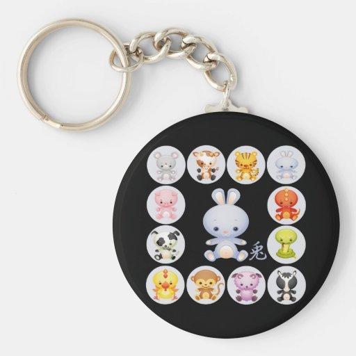 Chinese Zodiac Year of the Rabbit Keychain