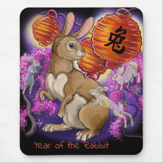 Chinese Zodiac Year of the Rabbit Mouse Pad