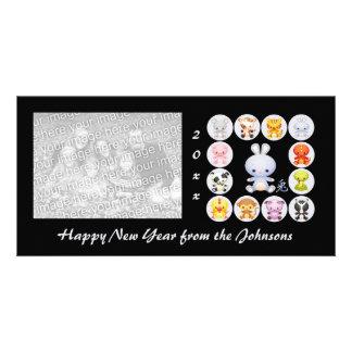 Chinese Zodiac Year of the Rabbit Photo Card